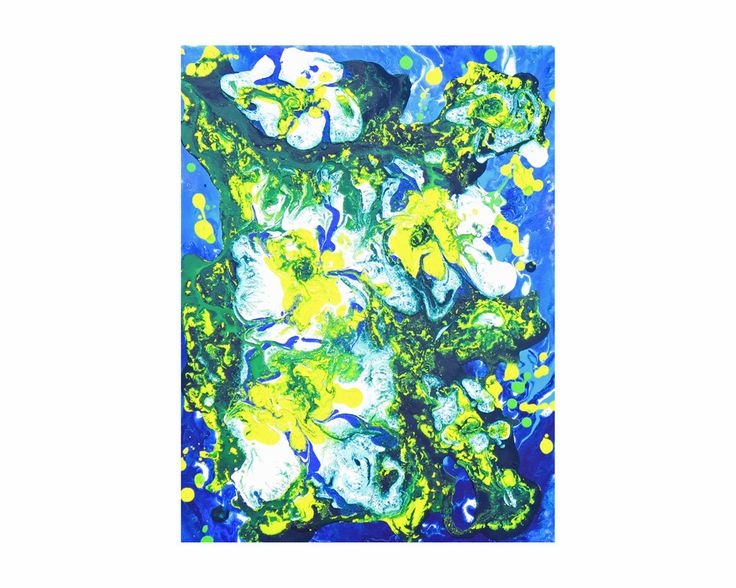 Small Painting Abstract Art Original Art Acrylic Painting Australia Canvas Art Colorful Wall Art Floral Art Flower Painting Tropical Decor by BlueBeachHouseArt on Etsy