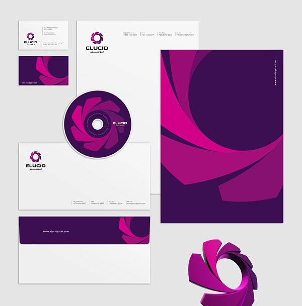 set of corporate identities (Arabic + English) by Khawar Bilal, via Behance