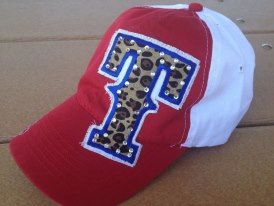 OMG! love this !!!!!! Texas Rangers Baseball Bling Laddies Womens HAt by chasingelly, $35.00