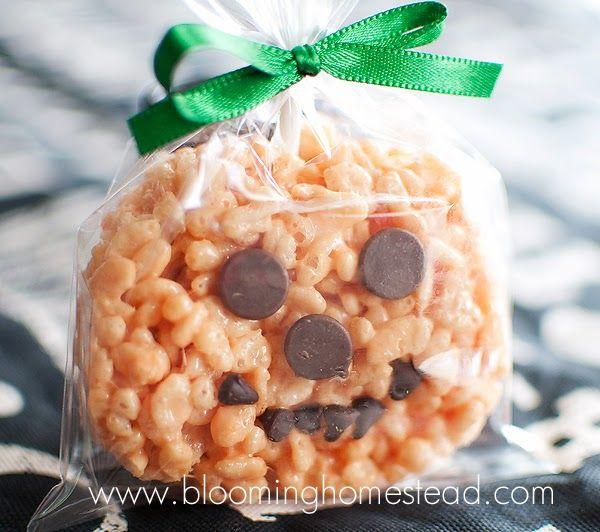 Pumpkin Rice Krispie Treats- Kids Favorite - Blooming Homestead