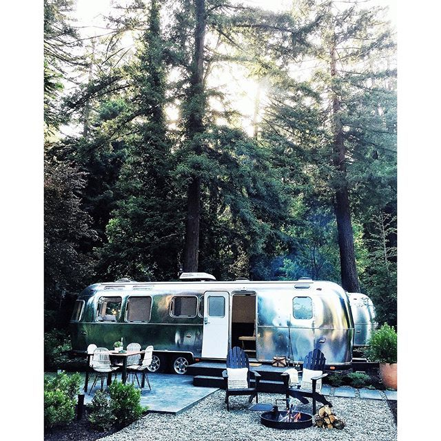 "Guerneville's incredible new @theautocamp hotel where ""rooms"" are actually shiny new Airstream trailers"