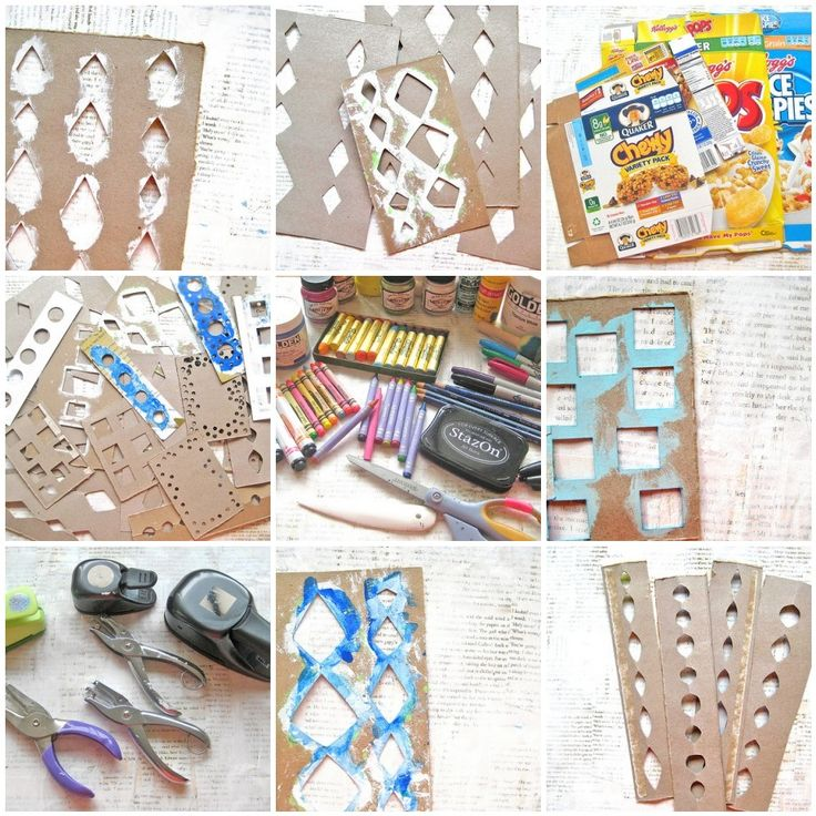 Alma Stoller: Video Tutorial: how to make paper stencils: great idea, so simple and inexpensive!