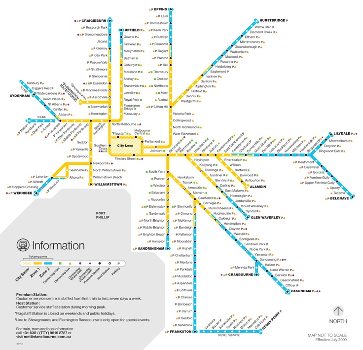 Melbourne Metro - click through to find when the next train, tram or bus is coming.