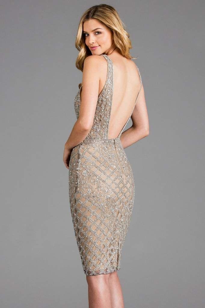 43f0c71f7cf SCALA - 48880 Lattice Beaded Halter Sheath Dress – Couture Candy