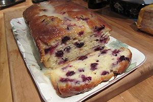 Lemon blueberry yoghurt loaf
