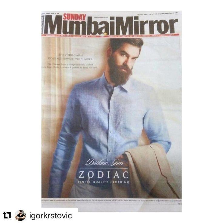 Toabh wishes our dearest Igor a very happy birthday (via Sunday Mumbai  Mirror Funday