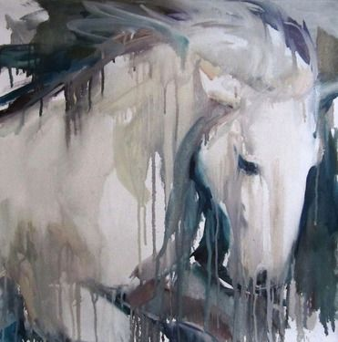 "Saatchi Art Artist: Sylvia Baldeva; Oil 2011 Painting ""Galloping horse - oil"