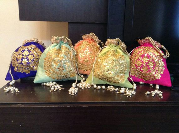 Potli Bags/Batwas by VerveArtisanClutches on Etsy
