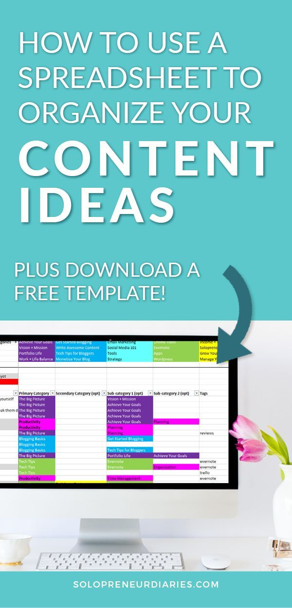 How To Use A Content Idea Spreadsheet To Stay Organized Business Calendar Spreadsheet Google Sheets