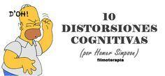 10 distorsiones cognitivas, por Homer Simpson