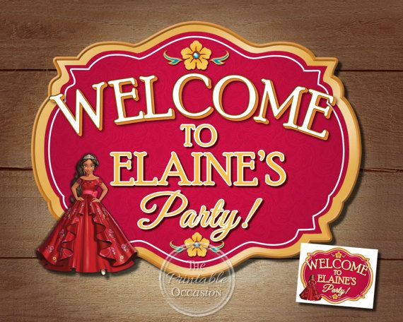 Grab your mariachi's and get ready to sway to the music! Princess Elena of the Kingdom of Avalor is here to party! Bright and festive, how can you NOT fall in love with this Princess Elena birthday sign! You can add any wording to the sign so you can use it as a door sign to greet your guests or frame and place on the party table with the caption 'Happy Birthday Elaine!'.  Princess Elena Sign, Elena of Avalor Birthday Doration, Elena Door Sign, Elena of Avalor Invitation Birthday Decorations
