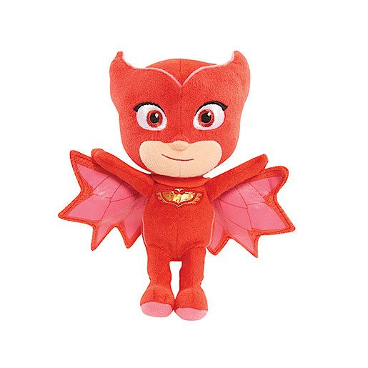 PJ Masks 20cm Beanie Soft Toy - Owlette - The Entertainer    http://www.thetoyshop.com/dolls-soft-toys/soft-toys/PJ-Masks-20cm-Beanie-Soft-Toy---Owlette/p/528406_owl