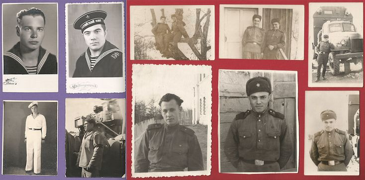 10 photo. Navy of the USSR. Soviet Army. 1950s, 1960. Russia.