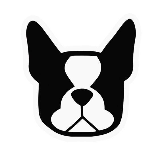Boston terrier dog car vinyl decal stickers by SmooshfaceUnited, $6.50