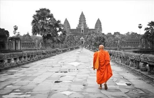 "Meditation helps us become fully aware of what is going on in the mind and body here and now. All too often, we sleepwalk through our days, musing about the past or daydreaming about the future. Mindfulness teaches us to cut through the fog and bring focus to the present moment.  Bhante Gunaratana ""The Four Foundations of Mindfulness in Plain English"" Image from: journals.worldnomads.com/cambodia/. Buddhism."