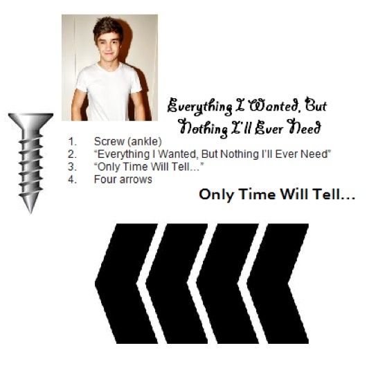 liam's tattoos. i love the four arrows it represents the ...
