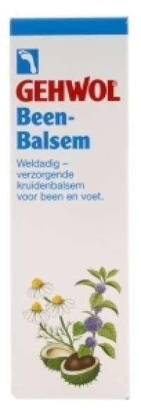 Gehwol Been-Balsem 125ml  Gehwol Been-Balsem is een verzorgende kruidenbalsem voor vermoeide en rusteloze benen. Na inspanning (bv sporters) of extra belasting (bv bij zwangerschap) geeft Gehwol Been-Balsem natuurlijke kracht voor de benen. Allantoïne  EUR 11.50  Meer informatie  #drogist