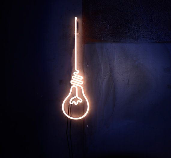 Unique, handmade, custom NEON signs. Based in Milan. We create neon light installations for your needs.  This is our BULB for you!  Here's what you