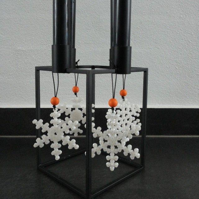 Christmas snowflakes hama perler by Anette Danielsen