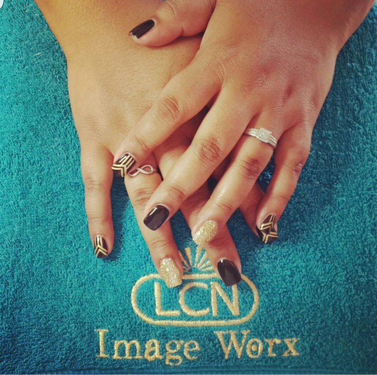 Freehand Great Gatsby themed gel overlays - Black and gold #LovingitLCN