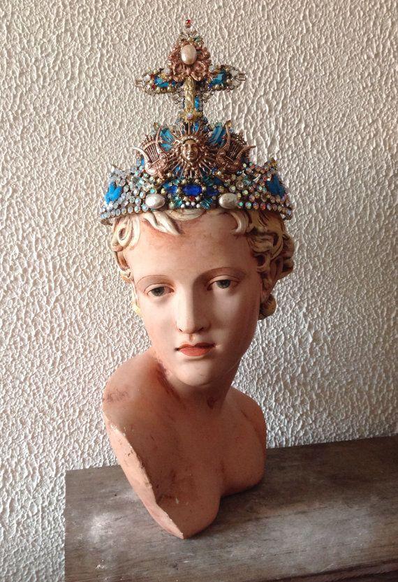 Huge baroque antique crowntiara Louis XIVKing Sun от Lunabarocca