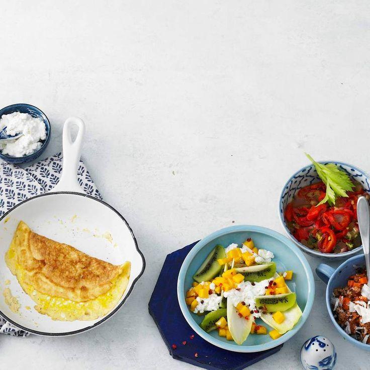 Frischkäse-Omelett