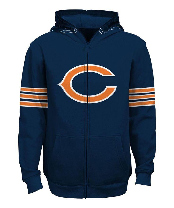Chicago Bears Helmet Zip-Up Hoodie - Boys