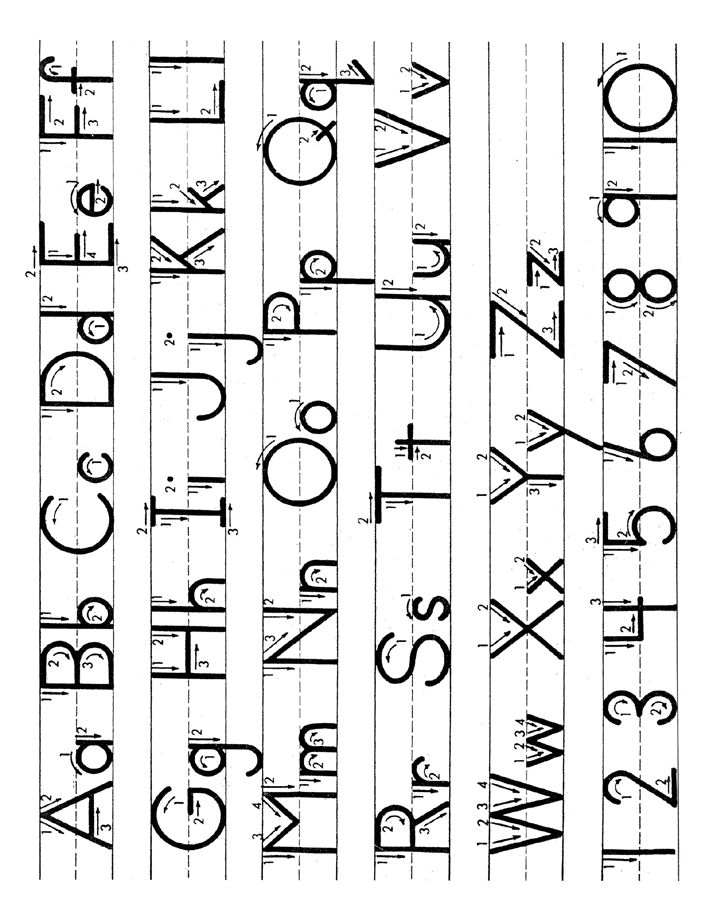 Alphabet Letter Tracing Guide Worksheet Learning English And The