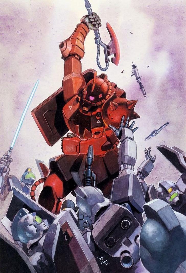 Gundam 0078 paintings by Yasuhiko & Takani. - Album on Imgur