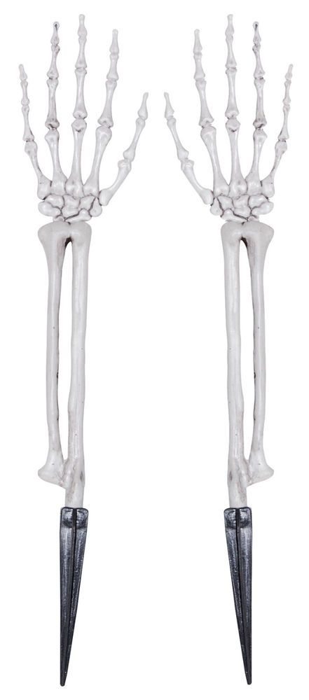 Skeleton Hands Lawn Stakes Ground Breaker Graveyard Halloween Prop - halloween club decorations