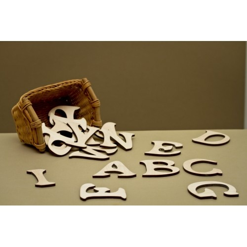 Lézervágott fa betűk