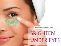 Brighten under eyes with eye masks - ♥ IndianBeautySpot.Com ♥ #DIYbeauty #darkcircles #naturalcures #naturalhealth
