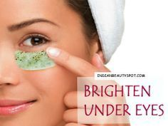 Brighten under eyes with eye masks - ♥ IndianBeautySpot.Com ♥ #DIYbeauty #darkcircles #naturalcures #naturalhealth