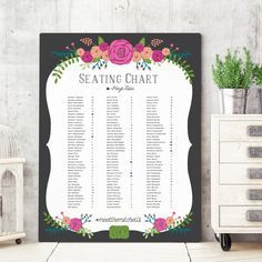 Wedding Seating Chart Sign   Seating Sign  by MissDesignBerryInc