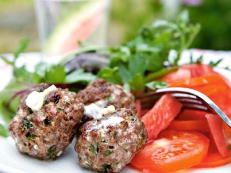 Feta cheese meatballs