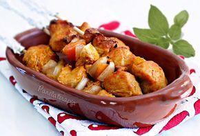 PANELATERAPIA - Blog de Culinária, Gastronomia e Receitas: Espetinho de Frango no Forno