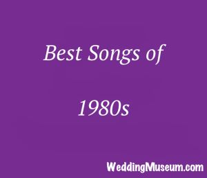 best 80s songs - A list of 1980s songs to play at weddings