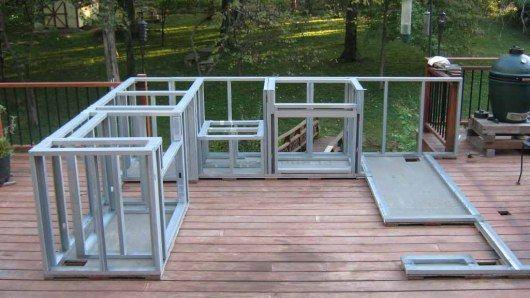build outdoor kitchen frame
