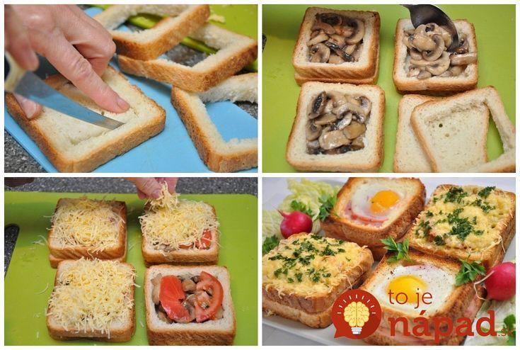 Vynikajúca pochúťka na raňajky, ktorú vyčarujete z obyčajného toastového chlebíka a obľúbených ingrediencií.