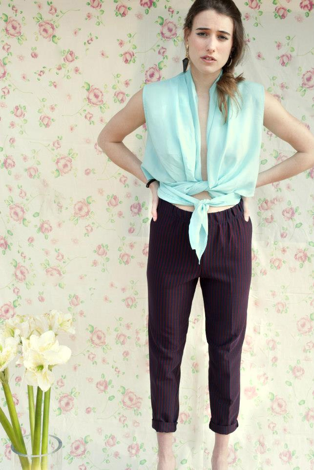 pants with stripes and multiuse shirt