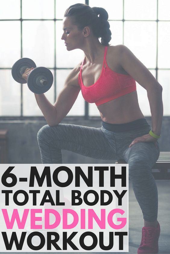 6-Month Wedding Weight Loss Plan: 11 Workouts for a Toned Body! | Projects to Try | Pinterest ...