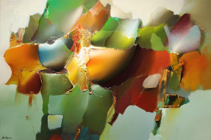 Handgemalte Ölgemälden, fertig auf Keilrahmen gespannt und an den Rändern bemalt. www.abstrakte-malereien-mit-blumen.de/