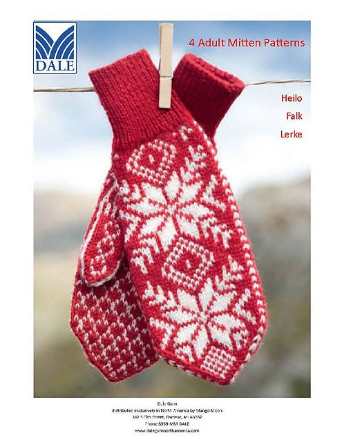 Ravelry: #219 Mittens pattern by Dale Design