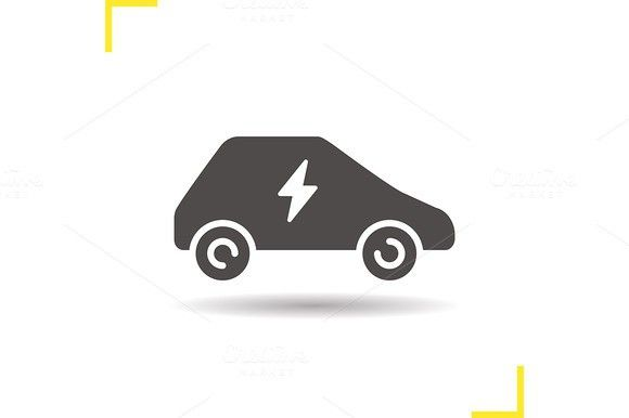 Electric Car Icon Vector Vector Technology Icons And Adobe