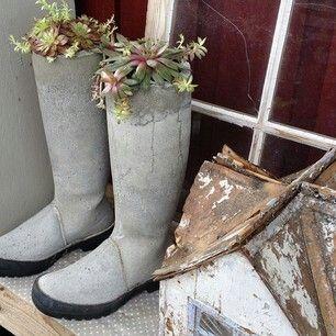 Støvler i betong