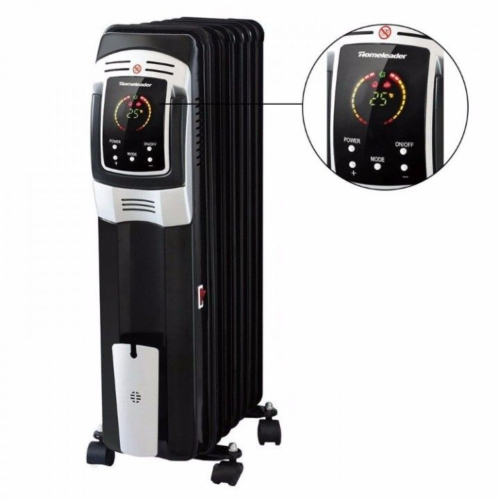 Electric Oil Filled Radiator Heater  Full Room Oil Heater with LED Display Screen With Remote