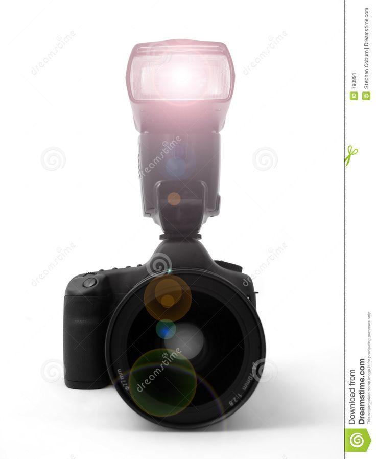 Op deze foto zie je een camera die flitst. Er is hier sprake van meelicht. Als je een foto maakt met de flitser aan dan zijn schaduwen nauwelijks meer te zien.