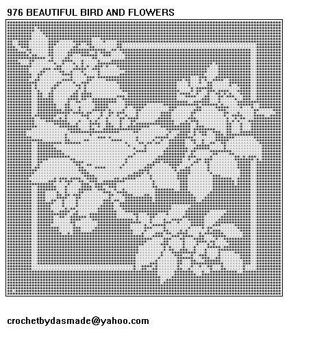 Free Filet Crochet Tablecloth Patterns | FILET CROCHET ROSE TABLECLOTH PATTERN | Crochet and Knitting Patterns