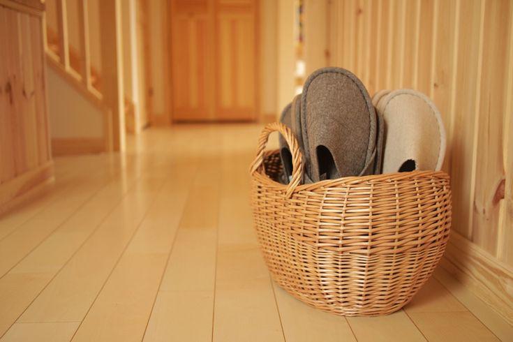 スリッパ収納バスケットを購入/FABLIC'S(ファブリックス) 家は明かりから。~スウェーデンハウスで北欧生活~