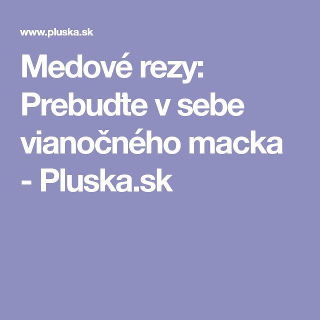 Medové rezy: Prebuďte v sebe vianočného macka - Pluska.sk
